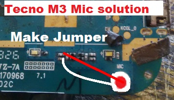 How to repair Tecno M3 mic or mouthpiece