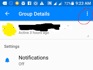 how do you get out of a group on messenger