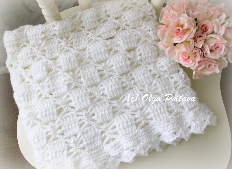 Lacy Crochet White Lace Spiders Baby Blanket Baby Afghan Baby