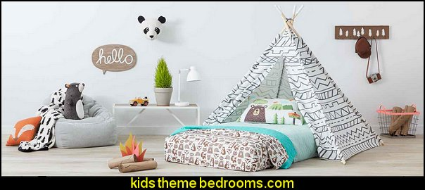 camp kiddo treehouse theme bedrooms - backyard themed kids rooms