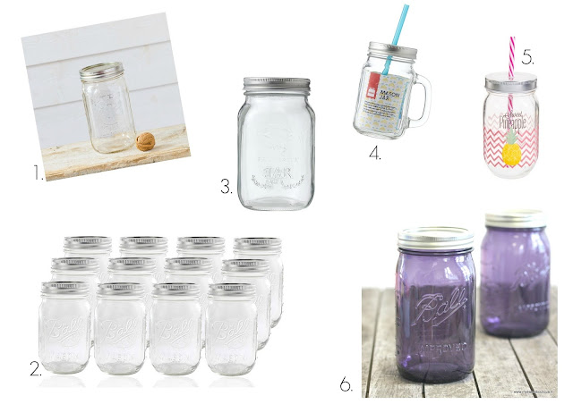 Selection shopping mason jar bocaux en verre blog mariage www.unjourmonprinceviendra26.com