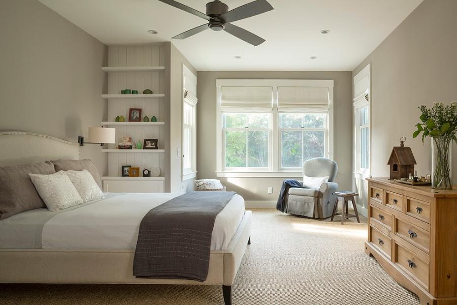 Amerykański domek, wystrój wnętrz, wnętrza, urządzanie mieszkania, dom, home decor, dekoracje, aranżacje, styl amerykański, american style, styl klasyczny, classic style, bed room, sypialnia