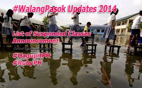 Typhoon 'Ruby' Enters Philippines, List of Suspended #WalangPasok Classes Announcement