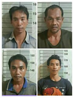 Empat Pria Pembawa Shabu Digelandang Ke Polres OI