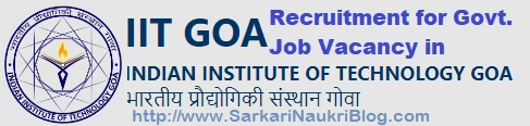 Recruitment Vacancy IIT Goa