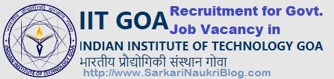 Recruitment Vacancy IIT Goa