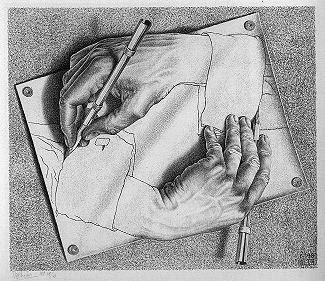 Mãos Desenhando - Escher, M. C. e suas geniais litogravuras