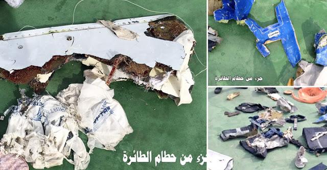 Tentera Mesir Siarkan Imej Serpihan Pesawat EgyptAir (7 Gambar)
