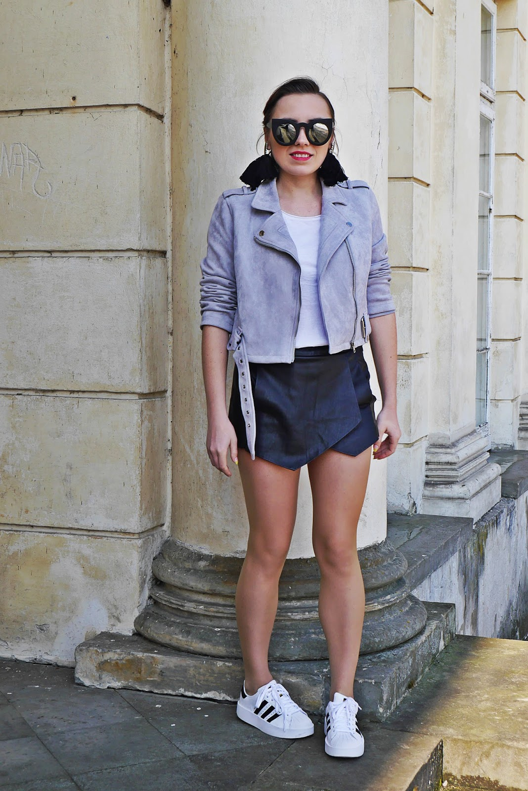 1_adidas_superstar_zara_shorts_gray_biker_jacket_karyn_blog_modowy_250318asd