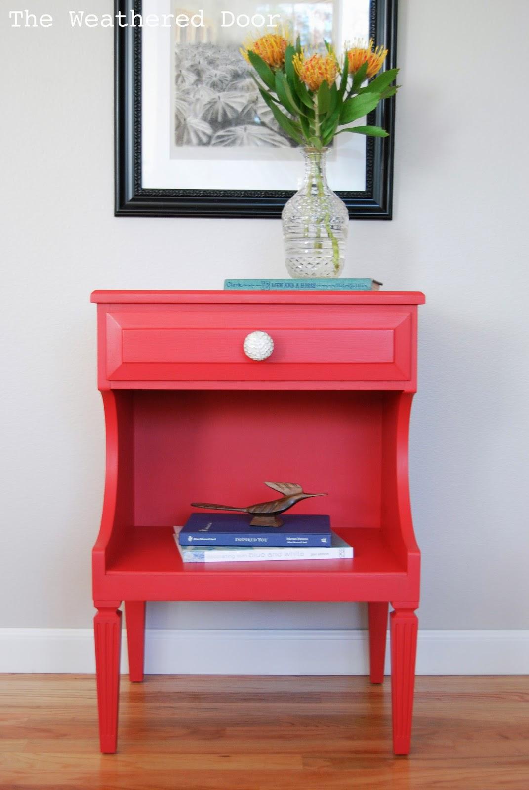 Poppy Red Nightstands