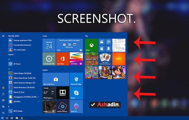 Cara Screenshot menu/event di Windows yang tidak bisa di lakukan dengan cara yang biasa