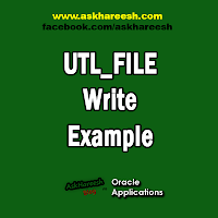 UTL_FILE Write Example, www.askhareesh.com