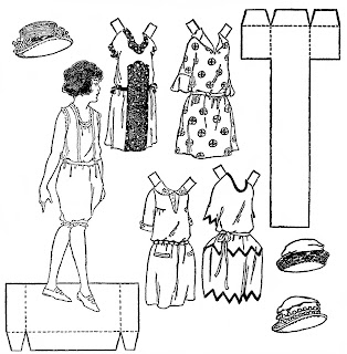Mostly Paper Dolls Too!: Newspaper Paper Dolls from 1922