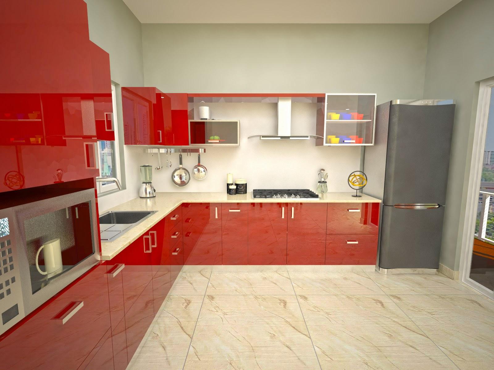 Aamoda kitchen u shaped l shaped modular kitchen design - L shaped indian modular kitchen designs ...