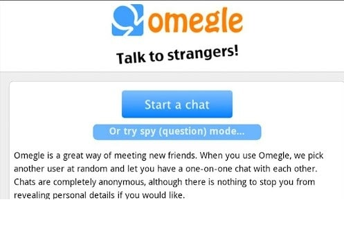 omegle free website for chatting with random strangers online when bored