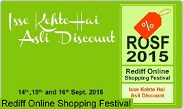 Rediff Online Shopping Festival: Great Discount & Best Deals (Valid till 16th Sep'15)