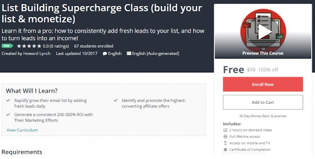 [100% Free] List Building Supercharge Class (build your list & monetize)| Worth 70$
