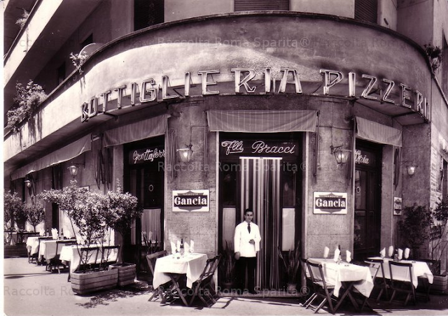 dining out in the 1970s Rome