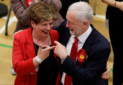 Thornberry's Breast, Corbyn Accidentally Slaps Emily Thornberry's Breast [Photos]