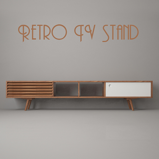 retro n5 tv board free stuffs for sketchup vray. Black Bedroom Furniture Sets. Home Design Ideas