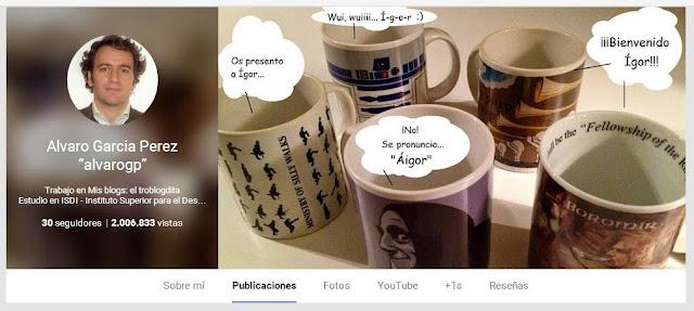 """2000000 de visitas en mi perfil de Google+ - Alvaro Garcia Perez """"AlvaroGP"""" - Álvaro García - ÁlvaroGP - Social Media & SEO Strategist - Google - Google+ - G+ - Google España - Google Plus - Google Mas - Google Spain - MIB - MIBer - MIBers - ISDI"""