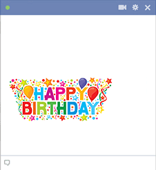 Colorful Happy Birthday FB Sticker