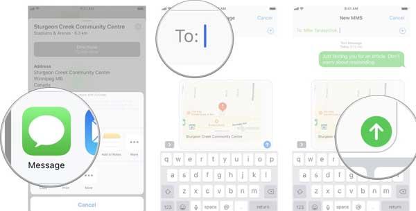 Cara Cepat Berbagai Lokasi di iOS