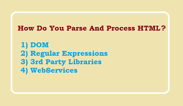 How do you parse and process HTML in PHP