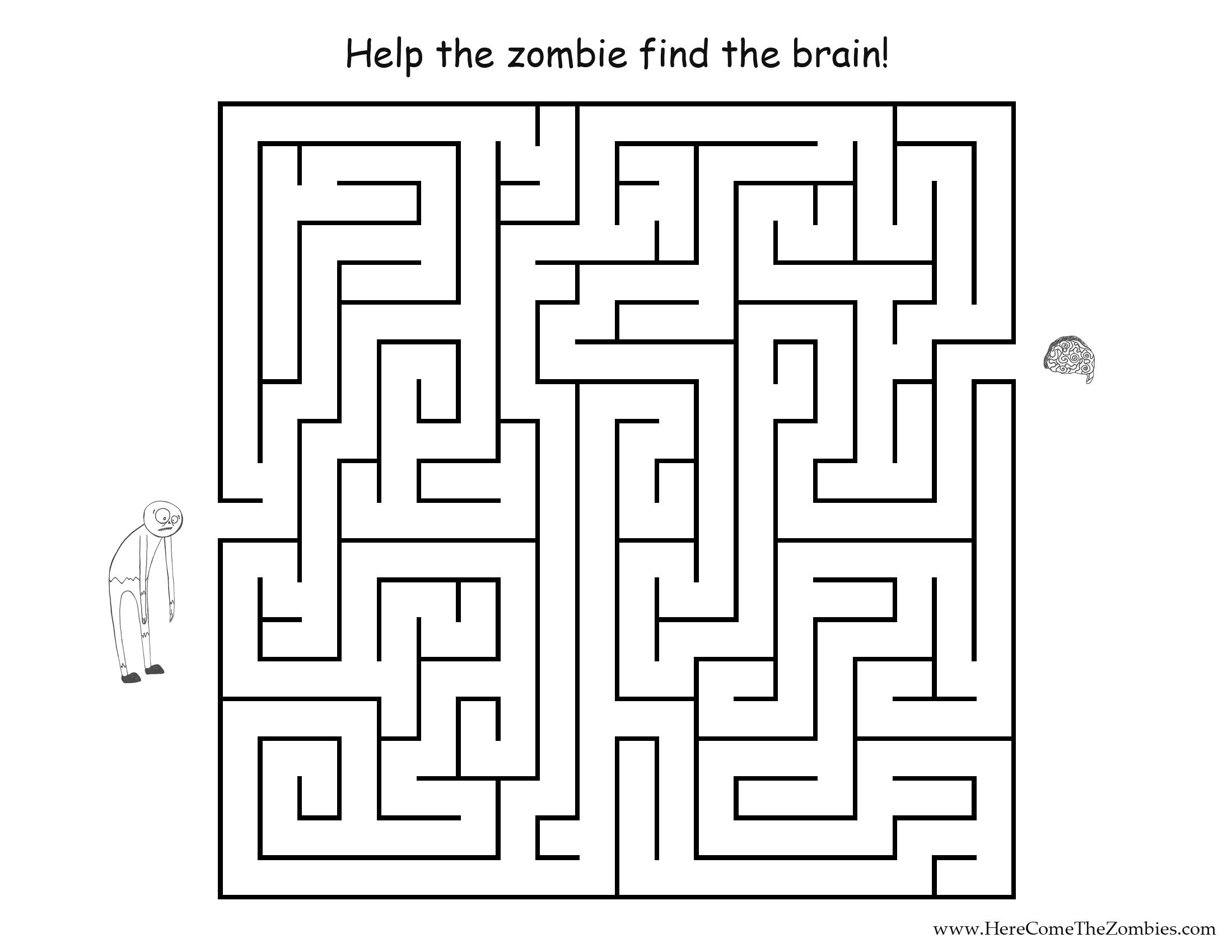 Maze Coloring Page - Democraciaejustica