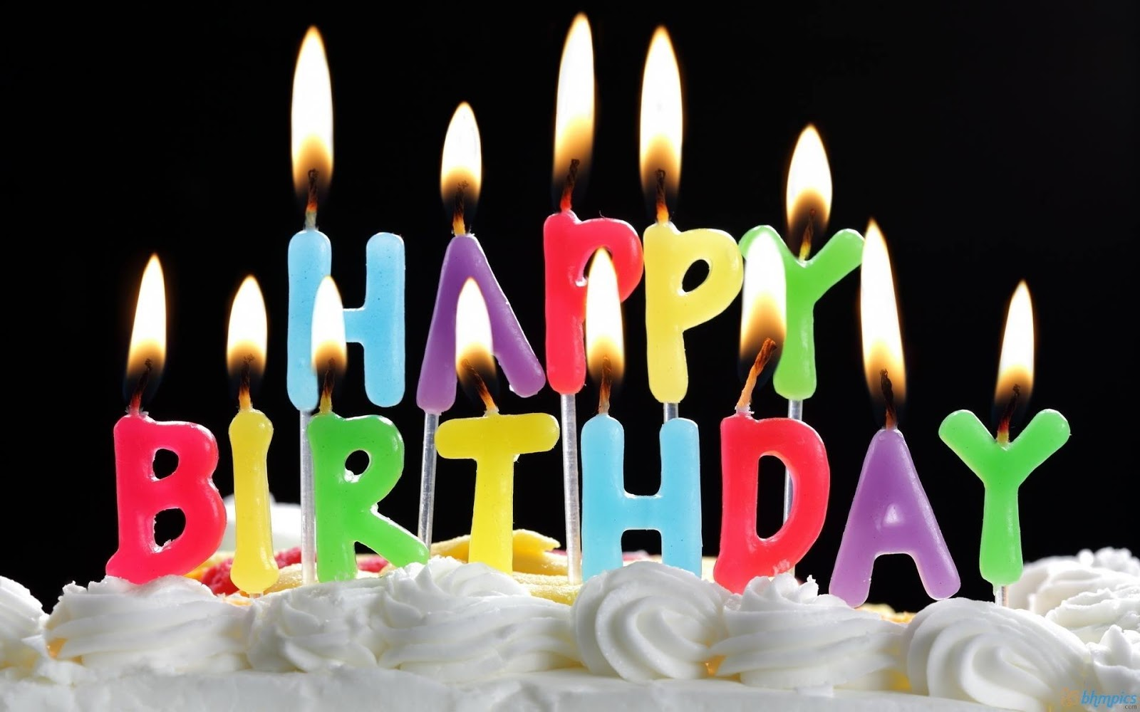 Happy Birthday: Lighted Candles