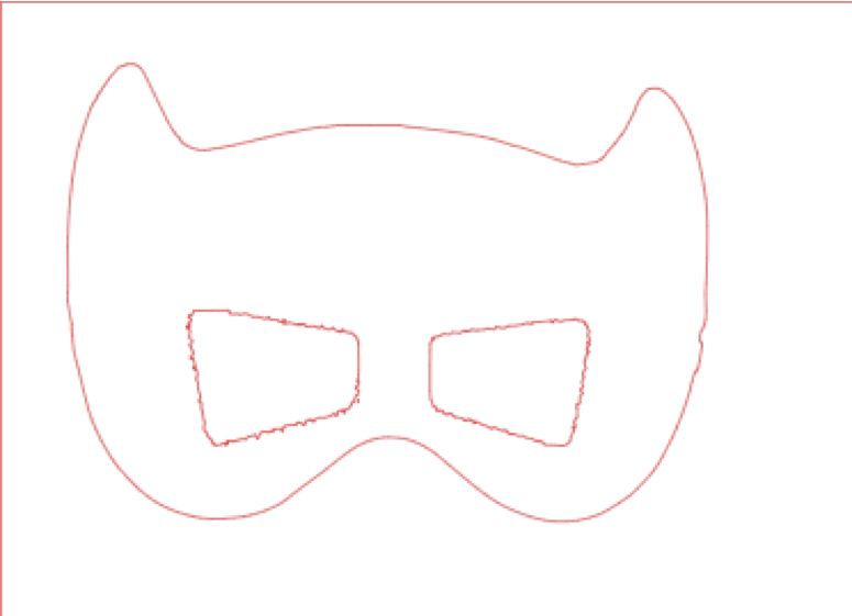 Batgirl Eye Mask Template Cut 2 of the mask patterns out