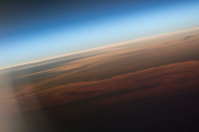 Earth's Atmosphere, Sunrise and Clouds over Atlantic Ocean seen from the International Space Station