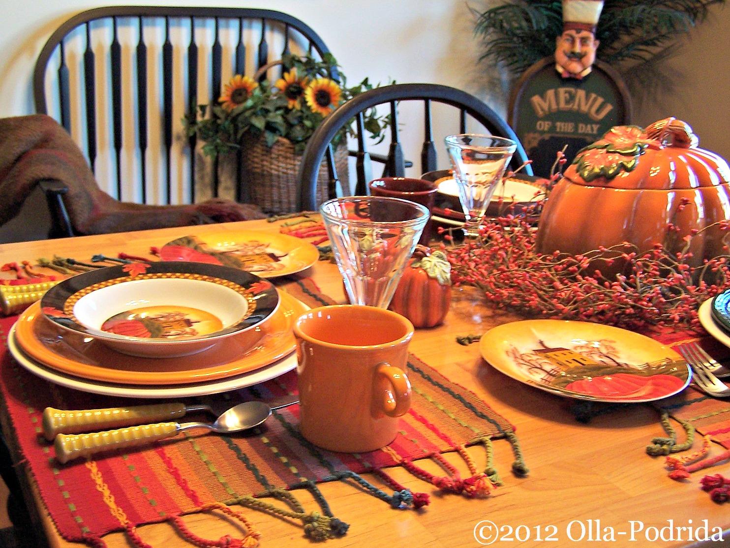 Olla-Podrida: Autumn Harvest Table Setting