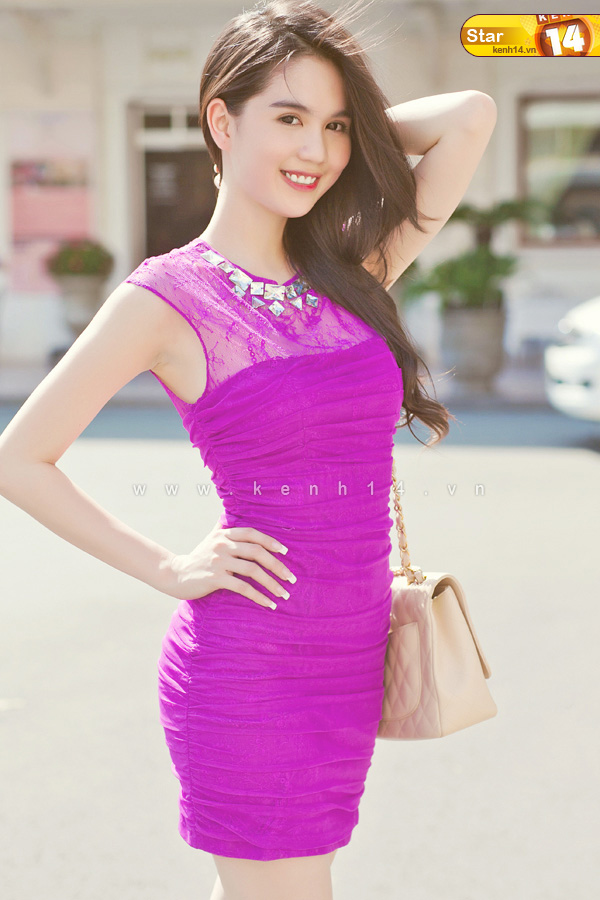 ngoc trinh sexy purple dress 04