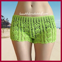 Shorts calados a crochet