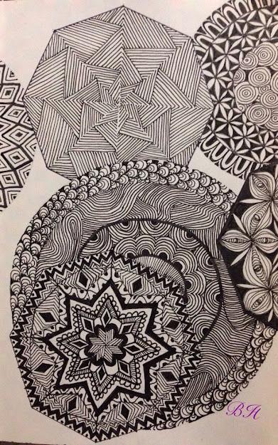 Zentangle Inspirierte Zeichnung Skizzenbuch Din Von Silberstreif