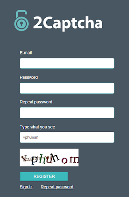 Registration procedure | 2 captcha