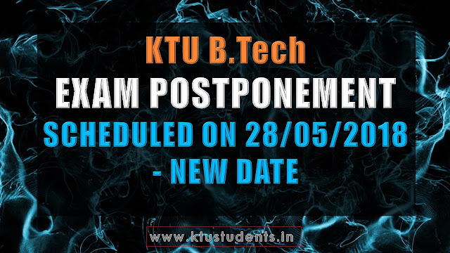 ktu exam postponed