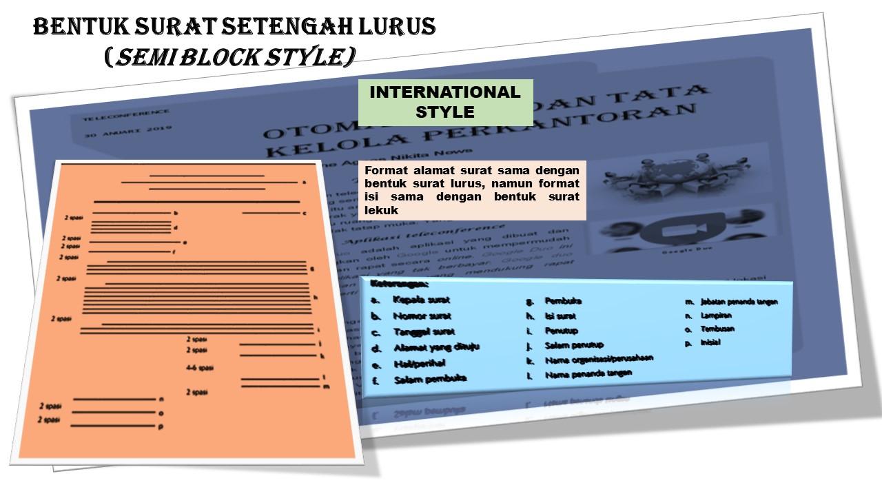 Let Us Study Bentuk Surat Setengah Lurus Semi Block Style