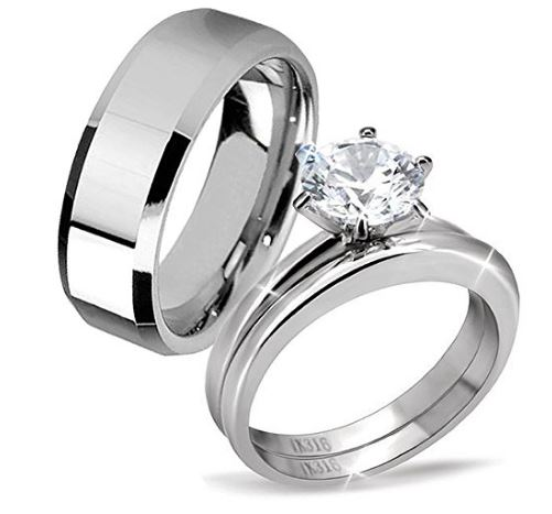 His And Hers Engagement Rings Cheap AZRING