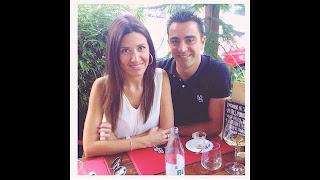 Xavi and his wife Nuria