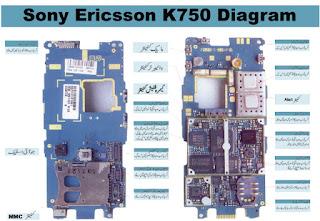 sony ericsson k750 mobile phone layout diagram circuit