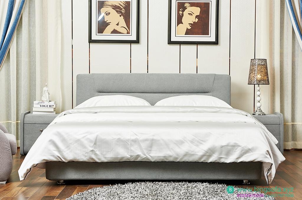 Giường ngủ bọc vải cao cấp GN13