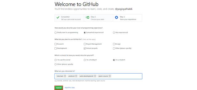 SignUp GitHub
