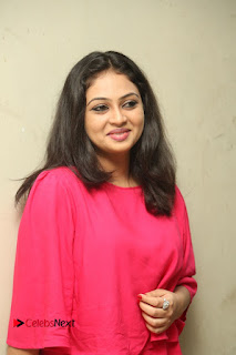 Actress Arundathi Nair Stills in Red Chididar at Bethaludu Success Meet  0042.JPG