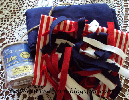 Eclectic Red Barn: 4th of July Garland Supplies