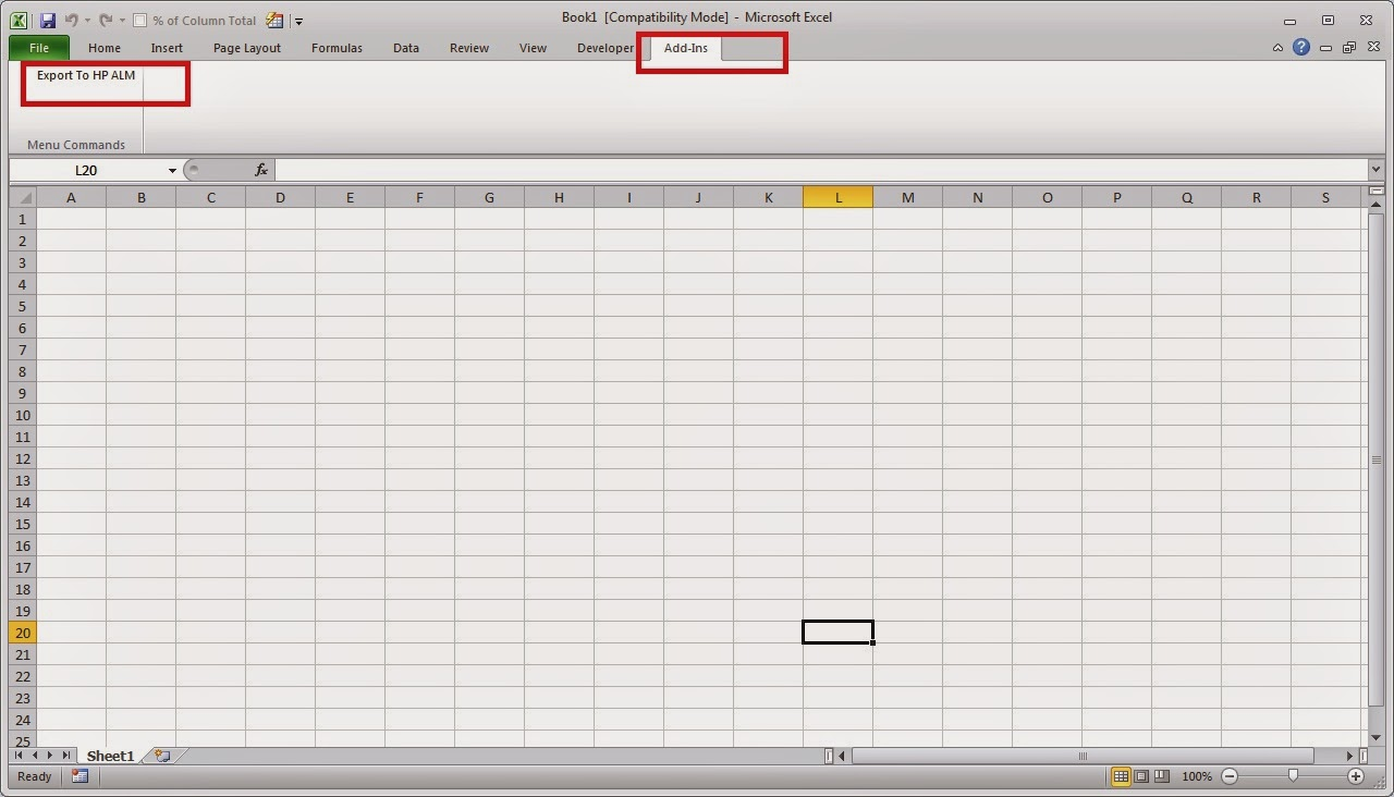 Download and Install Microsoft Excel Add-in for HP Quality Center or