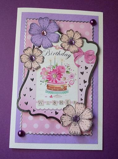 Flower Handmade Birthday Card