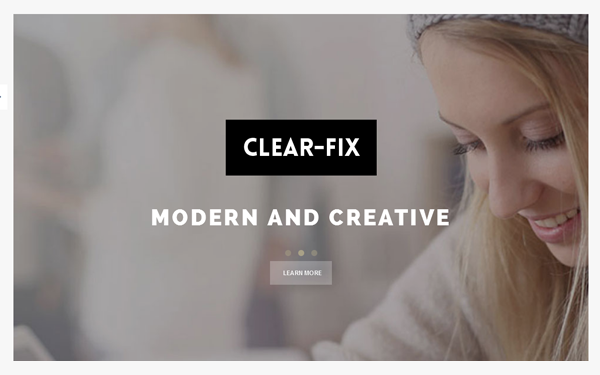 download clearfix - one page bootstrap theme v1 1