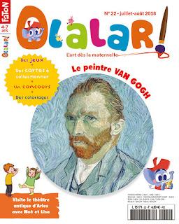 Olalar magazine art pour enfant vincent van gogh